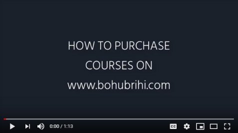 how to purchase courses on Bohubrihi